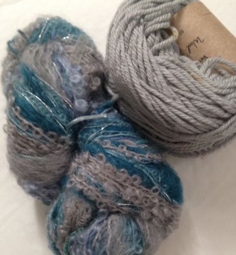 Magicball cowl - Mountain Lakes with grey